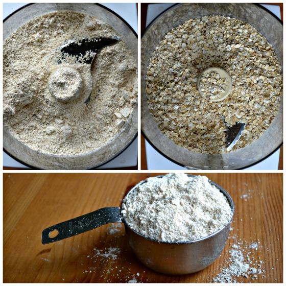oat flour collage